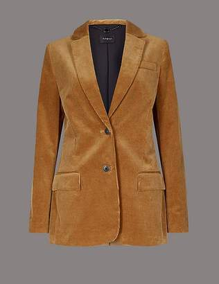 Marks and Spencer Cotton Rich Textured Corduroy Blazer