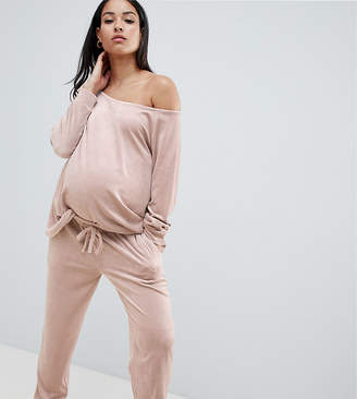 Asos DESIGN Maternity Lounge velour jogger