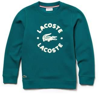 Lacoste (ラコステ) - Boys 『LACOSTE』レタリング フリース クルーネックスウェットシャツ