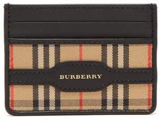 Burberry Vintage Check Cardholder - Mens - Black