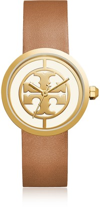 Tory Burch The Reva Luggage Leather Women's Watch