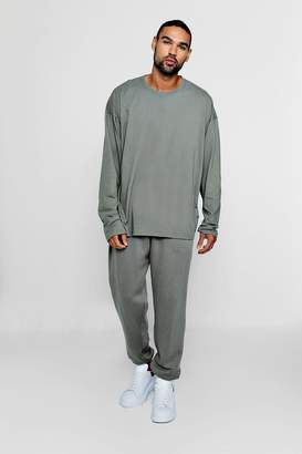 boohoo Oversized Long Sleeve T-Shirt & Loose Jogger Set
