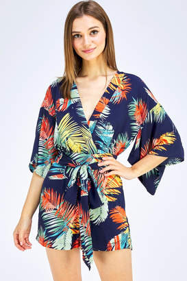 Alythea Tropical Print Romper