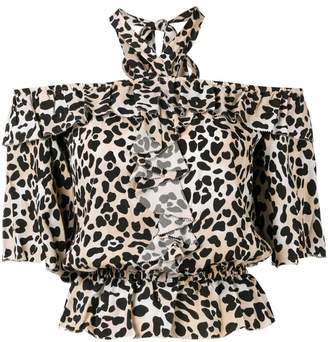 Temperley London leopard print blouse