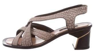Derek Lam Embossed Suede Sandals