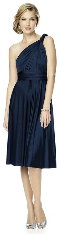 Dessy Collection - MJ-TWIST2 Dress in Midnight