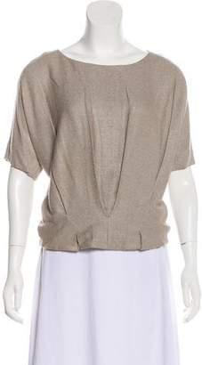 Chloé Silk Short Sleeve Blouse