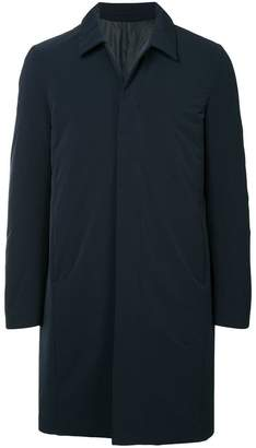 Attachment boxy single-breasted coat