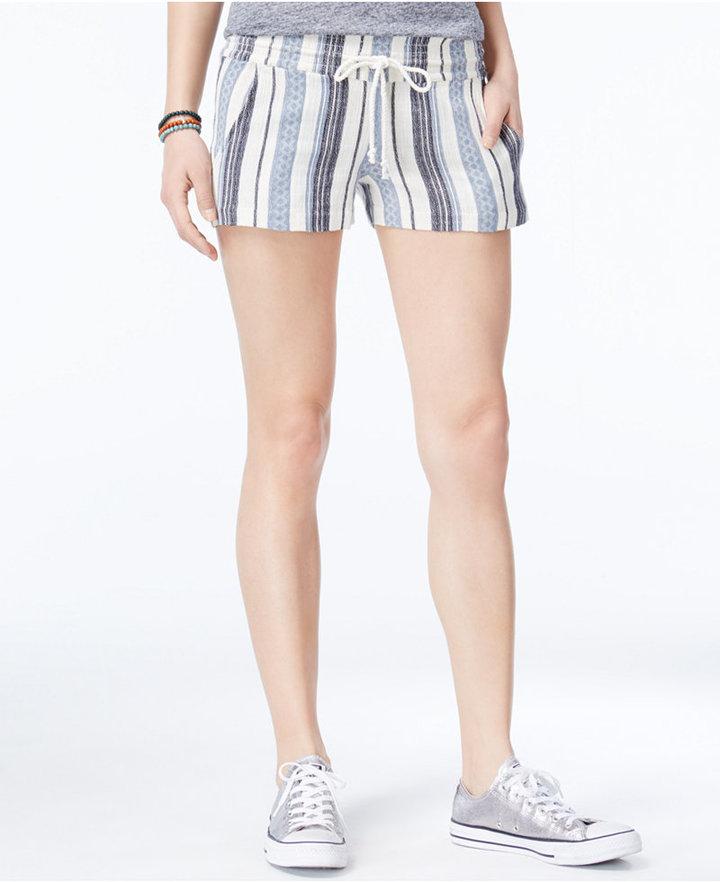 Roxy Juniors' Yarn Dye Striped Shorts