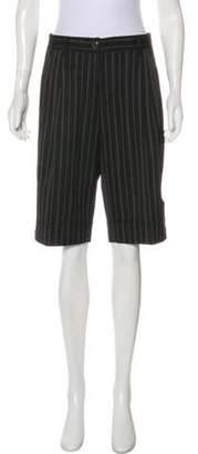 Dolce & Gabbana Mid-Rise Striped Shorts Black Mid-Rise Striped Shorts