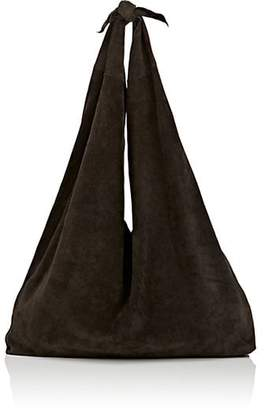 The Row Women's Bindle Suede Shoulder Bag - Charcoal