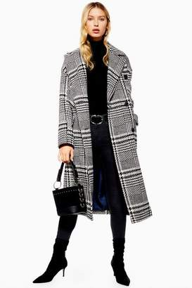 Topshop Womens Checked Coat