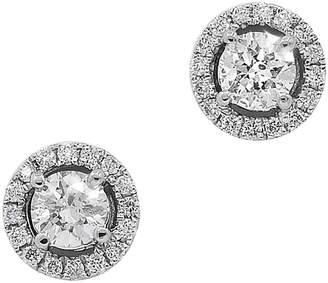 Neiman Marcus Diamonds 14k White Gold Diamond Stud Earrings, 0.44tcw