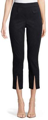 Frame Striped Split-Front Cropped Pants