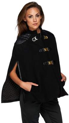 G.I.L.I. Got It Love It G.I.L.I Buckle Front Cape with Faux Leather Trim