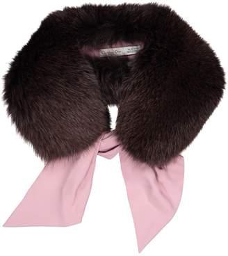 Christian Dior Vintage Brown Fox Scarves
