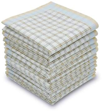 "EcoHanky Men's Handkerchiefs 100% Cotton Classic Plaid 16"" large"