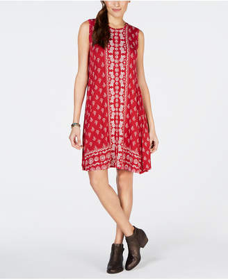 Style&Co. Style & Co Border-Trim Trapeze Dress, Created for Macy's
