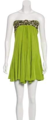 Just Cavalli Strapless Mini Dress