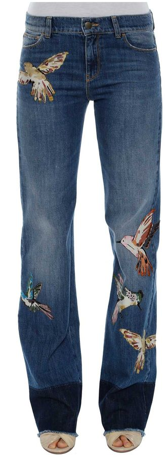 RED ValentinoRed Valentino Hummingbirds Embroidery Jeans