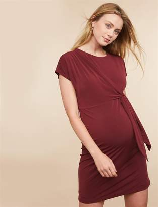Motherhood Maternity Tie Detail Maternity Dress
