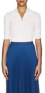 Prada Women's Cashmere-Silk Half-Zip Sweater - Ivorybone