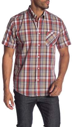 Ben Sherman Short Sleeve Madras Plaid Shirt