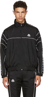 Kappa SSENSE Exclusive Black Windbreaker Track Jacket $130 thestylecure.com