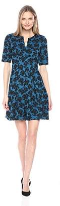 Julian Taylor Women's Floral Printed Fit and Flare Dress
