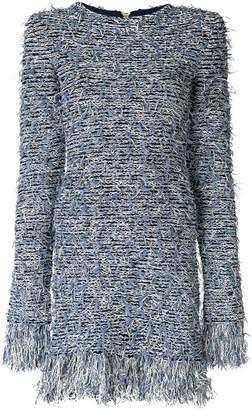 Balmain fringed mini dress
