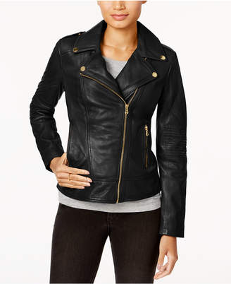 Guess Asymmetrical Leather Moto Jacket $380 thestylecure.com