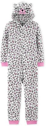 Carter's Carter Little & Big Girls 1-Pc. Leopard-Print Pajama
