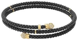 Lagos Gold & Black Caviar Pave Diamond Wrap Bracelet