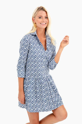 The Shirt by Rochelle Behrens Batik Drop Waist Shirt Dress