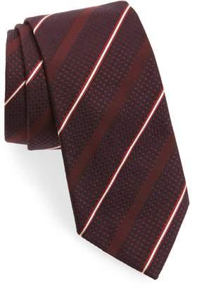 Emporio Armani Stripe Silk & Wool Tie