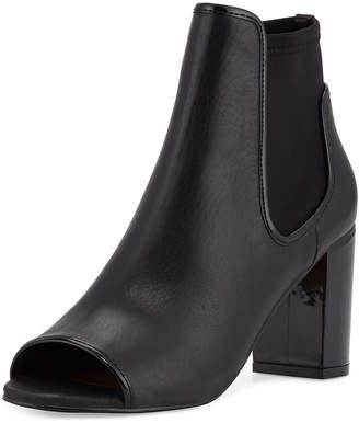 Donald J Pliner Irita Leather Open-Toe Bootie, Black