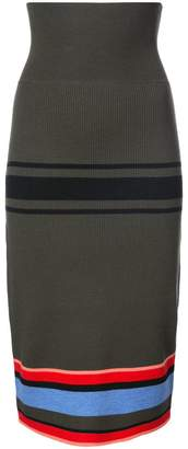 Tome striped fitted skirt