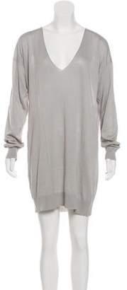 Stella McCartney Silk & Linen-Blend Mini Dress