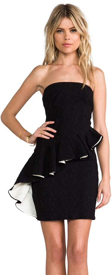 MM Couture by Miss Me Asymmetrical Peplum Dress
