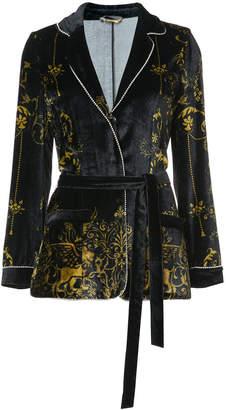 Alberta Ferretti belted velvet jacket