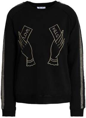 Zoe Karssen Embroidered Cotton-blend Sweatshirt