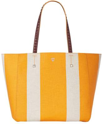 Shopper Bag in Exotic Yellow Bonded Canvas MCM kdDwDxF