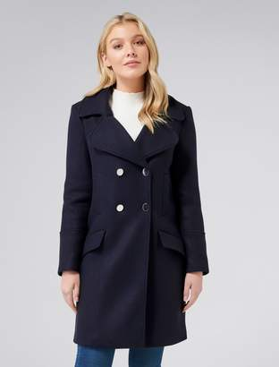 Forever New Sage petite Coat - Navy - 6