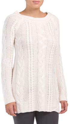 Lounge Boyfriend Cable Sweater