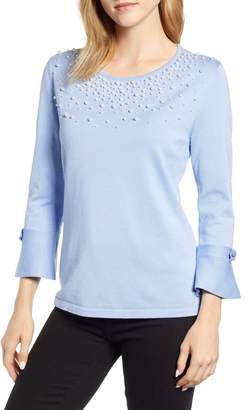 Karl Lagerfeld Paris Pearly Detail Sweater