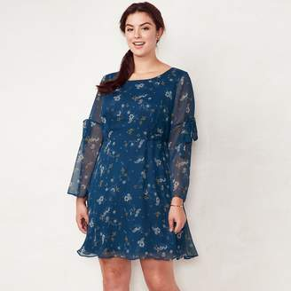 Lauren Conrad Plus Size Bell Sleeve Dress