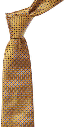 Canali Yellow & Blue Dot Silk Tie