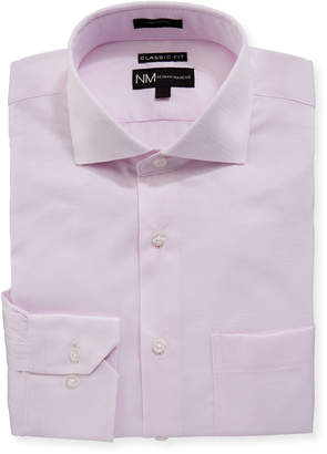 Neiman Marcus Classic-Fit Regular Finish Dobby-Texture Dress Shirt