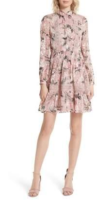 Kate Spade Botanical Chiffon Mini Dress