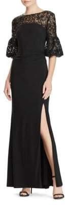 Lauren Ralph Lauren Floral Sequined Jersey Gown